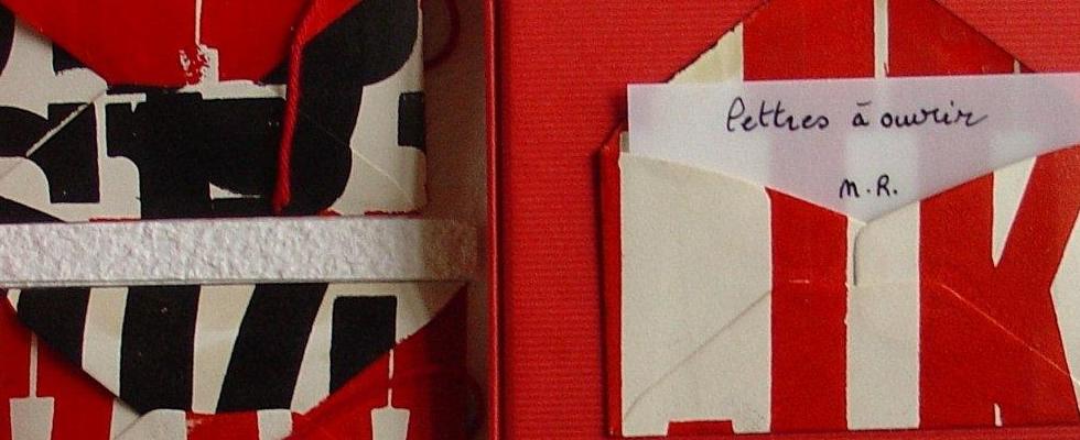 lettres à ouvrir bis – livre d'artiste